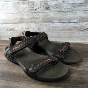 Teva Velcro Hiking Sandal Mens 12 Brown
